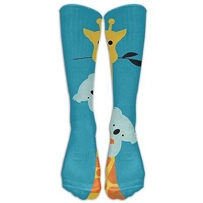 High Boots Crew Cute Giraffe Compression Socks Comfortable Long Dress For Men Women