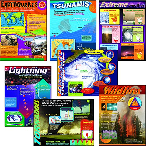 Trend Enterprises Weather Extremes Learning Chart Combo Pack (T-38963) (Pack Weather Charts Combo)
