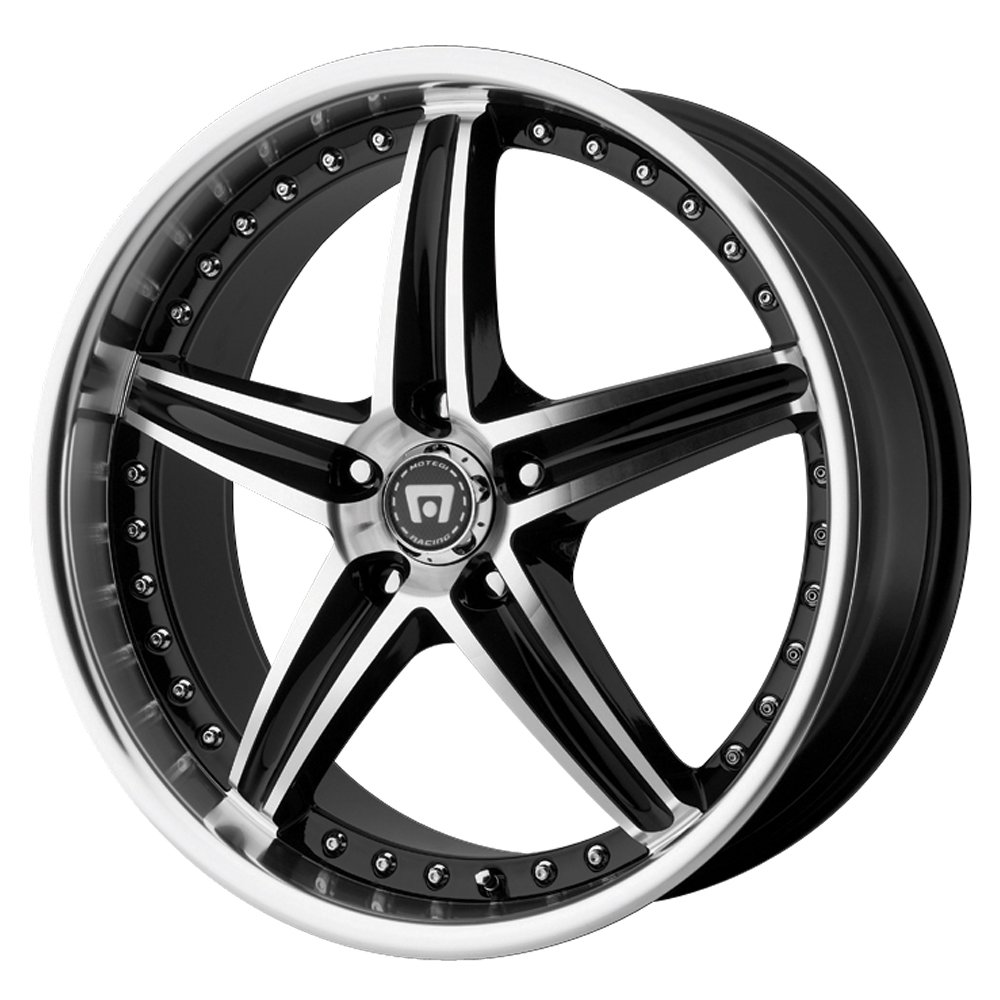 Motegi Racing MR107 Gloss Black Wheel With Machined Face (17x7.5''/5x100mm, +45mm offset)