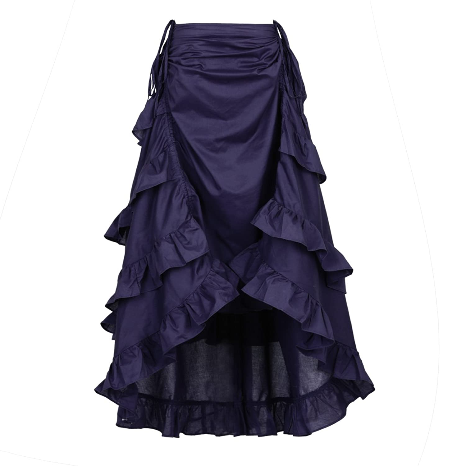 Steampunk Costume Essentials for Women NIGHT BUTTERFLY Womens Costume Steampunk Cocktail Party Skirts Black High-Low $25.00 AT vintagedancer.com
