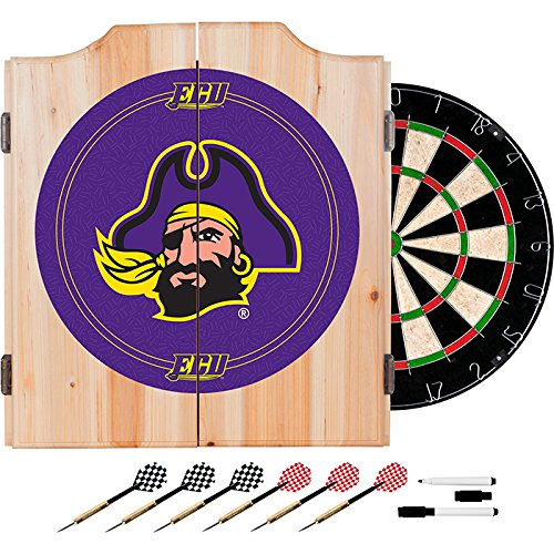 East Carolina University Deluxe Solid Wood Cabinet Complete Dart Set - Officially Licensed! by TMG