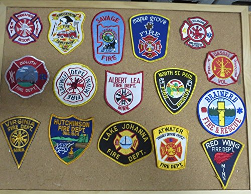 MINNESOTA FIRE/RESCUE DEPARTMENT PATCHES! SET TWO! LOT OF 16!