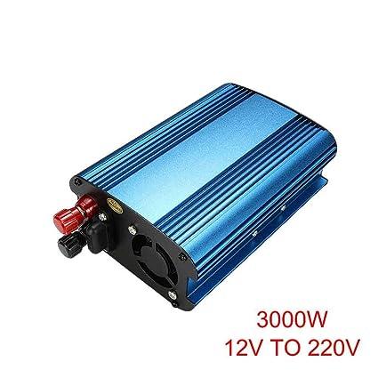 wokee 3000W/4000W Coche Energía Solar Inversor DC 12 / 24Va AC 220V Modificado Onda Sinusoidal Convertidor - 12V To 220V-3000W
