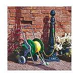 Lantusi 150 ft Garden Poly Hose Cart,Hosemobile Hose Reel Cart Steel Frame 2 Wheel Outdoor Water Planting (US Stock)