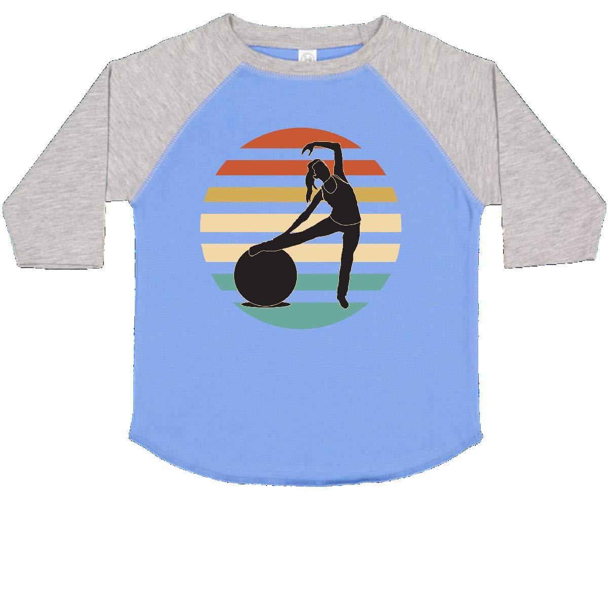 inktastic Pilates Fitness Retro Exercise Toddler T-Shirt