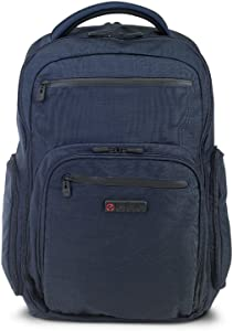 "ECBC Hercules Laptop Backpack, with 17"" Laptop Sleeve, TSA FastPass, Blue"