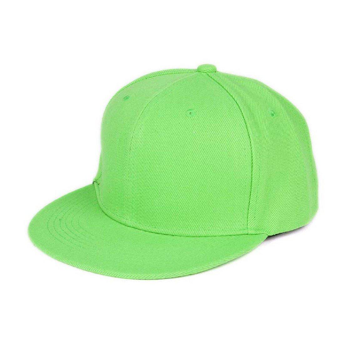 8e151b2ca8140 Tongshi Moda Unisex Plain Snapback Hats Hip-Hop ajustable Gorra de béisbol  (Verde)  Amazon.es  Coche y moto