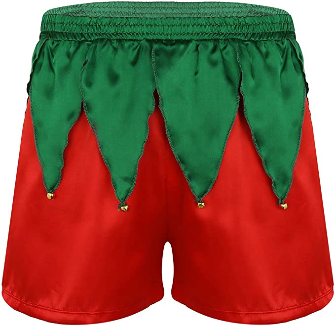 Black Poly Satin Boxer Shorts Medium