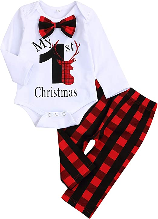 baby boy//girl toddler Red bow tie and suspenders set for Christmas Picture