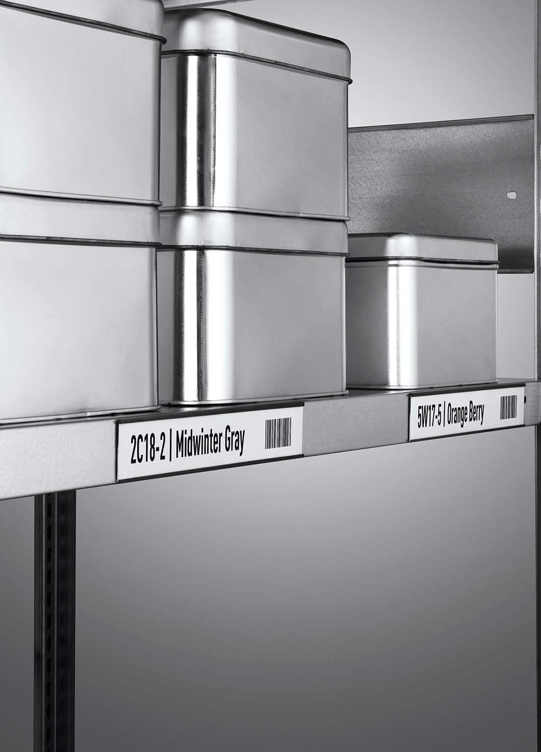 Carbone 200x40 mm Ritagliabile Confezione da 5 Pezzi Durable 171258 C-Profile Porta Etichetta Magnetico