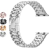 Moolia Bling Candy Band Compatible with Apple Watch Band 38mm 40mm iwatch Series 6 5 4 3 2 1/SE for iwatch Women Metal Jewelr