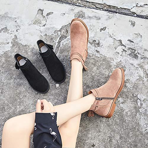 KPHY Damenschuhe/Leder Einem Kurzen Stiefel Herbst Herbst Stiefel Joker Chelsea Stiefel und Martin Stiefel.39 Khaki. - ac298a