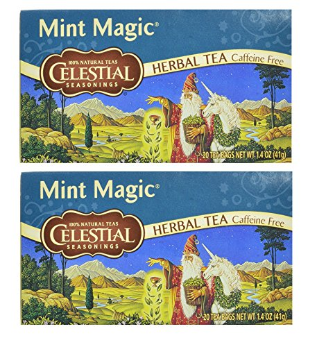 Celestial Seasonings Herbal Tea, Mint Magic, (2 Pack)