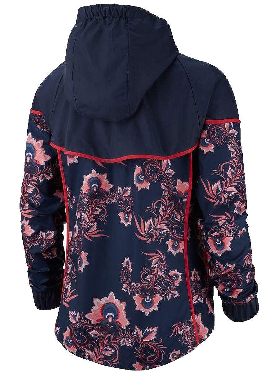 956cfe0e9cc5 NIKE Women s Sportswear Jacket Black University RED at Amazon Women s  Clothing store