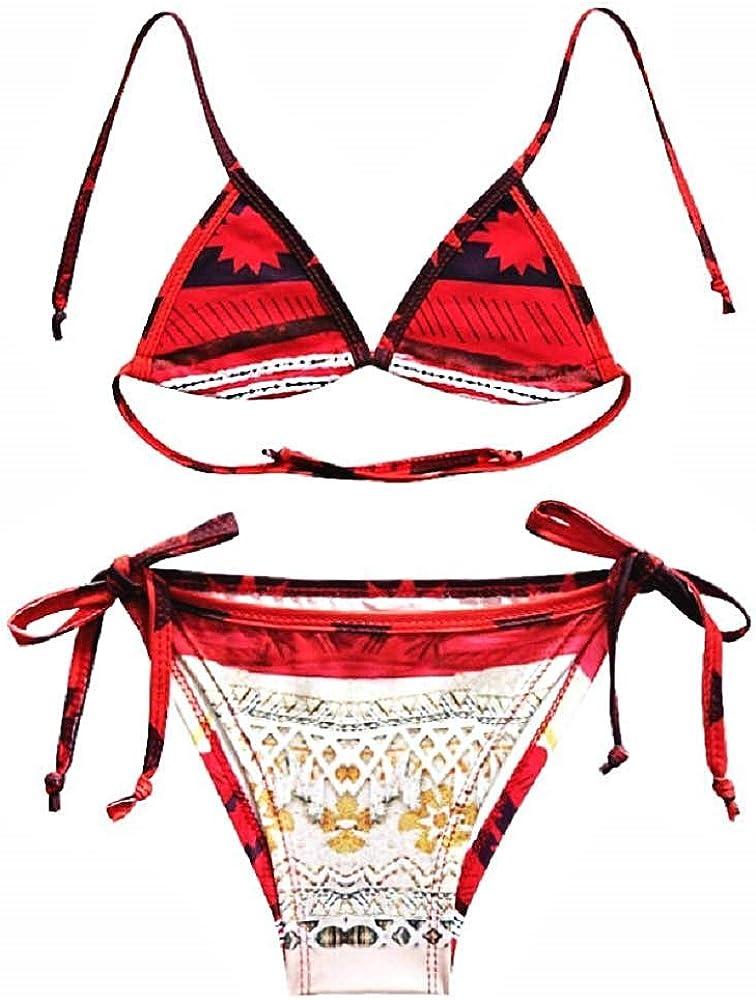 Traje de baño vaiana niña - niña - Moana - oceanía - Dos Piezas - Bikini - Calzoncillos - Top Triangular - mar - Piscina - Idea de Regalo