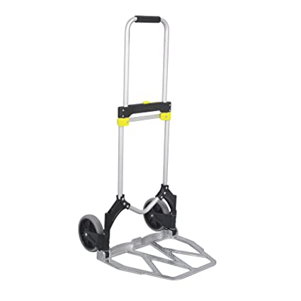 6234917afb61 Safco Products 4052 Stow-Away XL Collapsible Utility Hand Truck, Silver