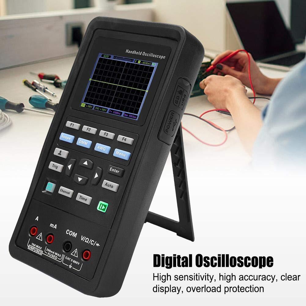 Handheld Oscilloscope Digital Multimeter Hantek 2D72//2D42 70MHz//40MHz 2CH Professional Digital Oscilloscope 25M Signal Generator AC100-240V Hantek2D72