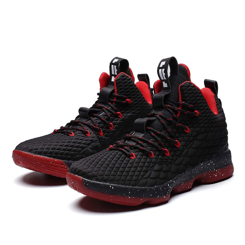 Sharemen Men'S Shoes Running Sports Basketball Shoes Non-Slip Wear Resistant Sneakers(Black,US:10)