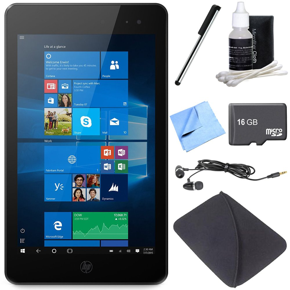 Hewlett Packard ENVY 8 Note 5003 32 GB 8'' Wireless LAN Verizon 4G Intel Atom Tablet 16GB Bundle includes Envy 8 Note Tablet, 16GB Card, Microfiber Cloth, Cleaning Kit, Stylus, Ear Bus and Sleeve by HP
