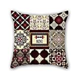 NICEPLW 16 x 16 inches / 40 by 40 cm Bohemian pillow shams,2 sides is fit for couch,girls,kids,chair,boy friend,home theater