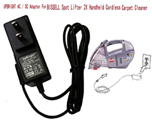 UpBright 12V AC/DC Adapter for Bissell Spot Lifter 2X Handheld Cordless Carpet Cleaner 1718 1719 17191 1719Q 1719T 1719Y 1719Z 160-2178 203-2577 203-2578 203-2579 SIL SSC-4W-12 US 120017 12VDC Power