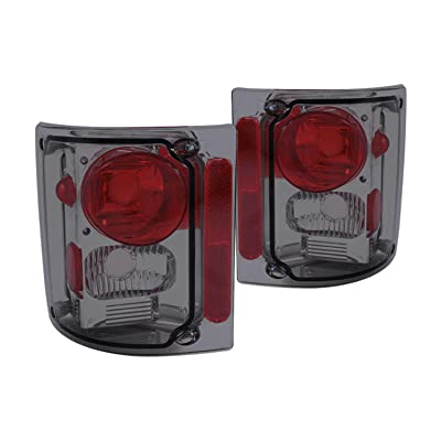 AnzoUSA 211153 Smoke Taillight for Chevrolet GM Truck - (Sold in Pairs): Automotive