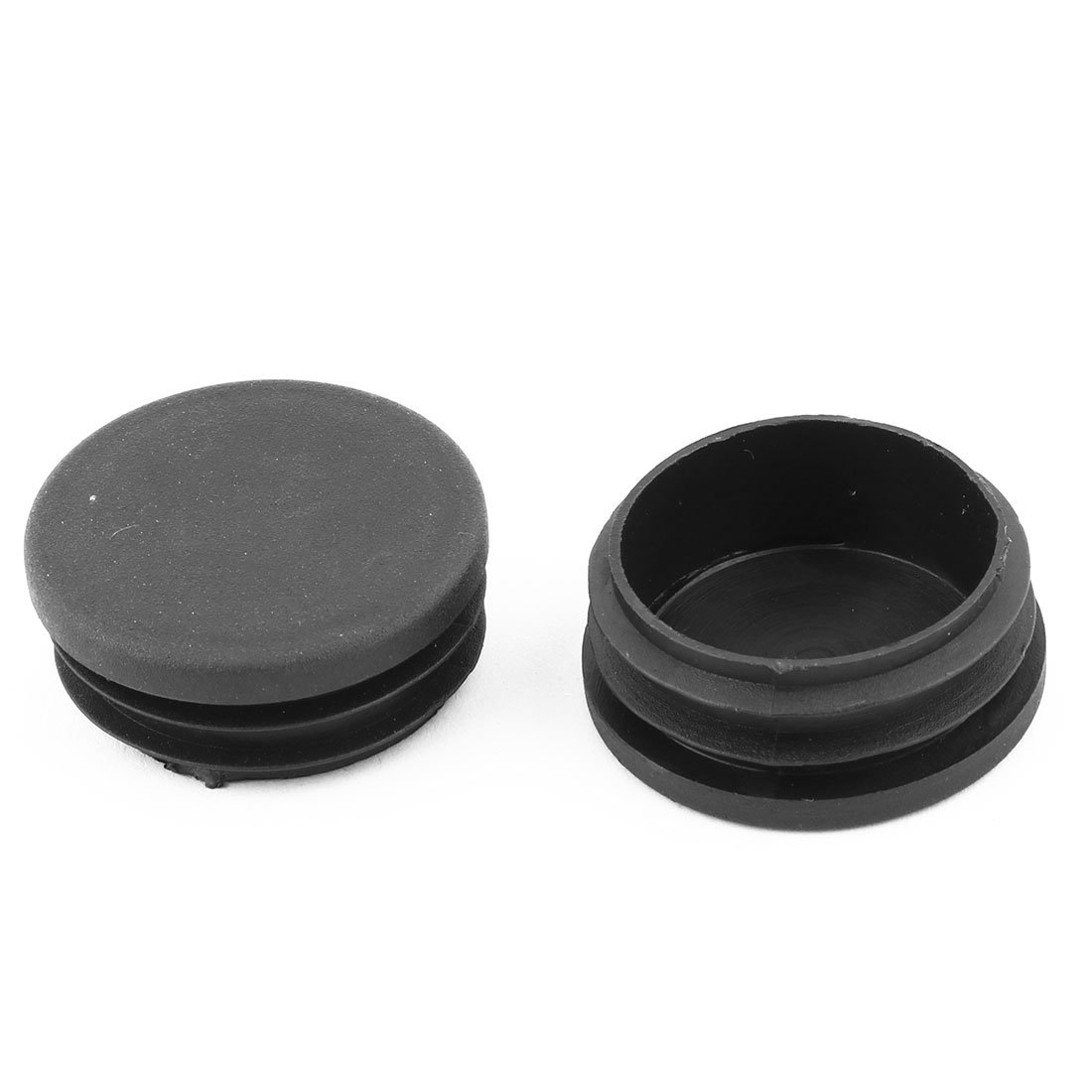 DealMux Plastic Round Table Chair Leg Feet Tube Pipe Insert Blanking End Cap 40mm Dia 16 PCS Black DLM-B01NCVMTZF