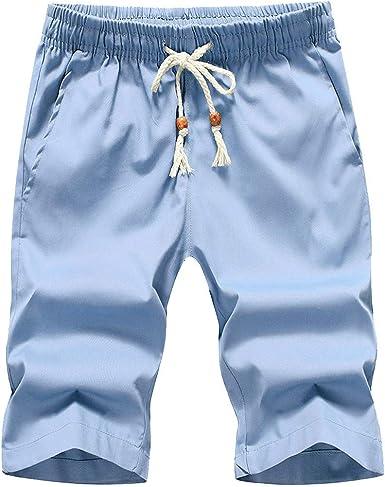 Wiltson algodón Hombre Shorts Hombre Beach Slim fit Bermudas ...
