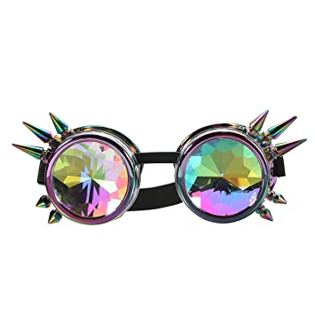 AAlamor 5 Colores Kaleidoscope Glasse Rave Prism Gafas ...