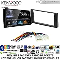 Volunteer Audio Kenwood DDX9904S Double Din Radio Install Kit with Apple CarPlay Android Auto Bluetooth Fits 2002-2006 Non Amplified Toyota Camry