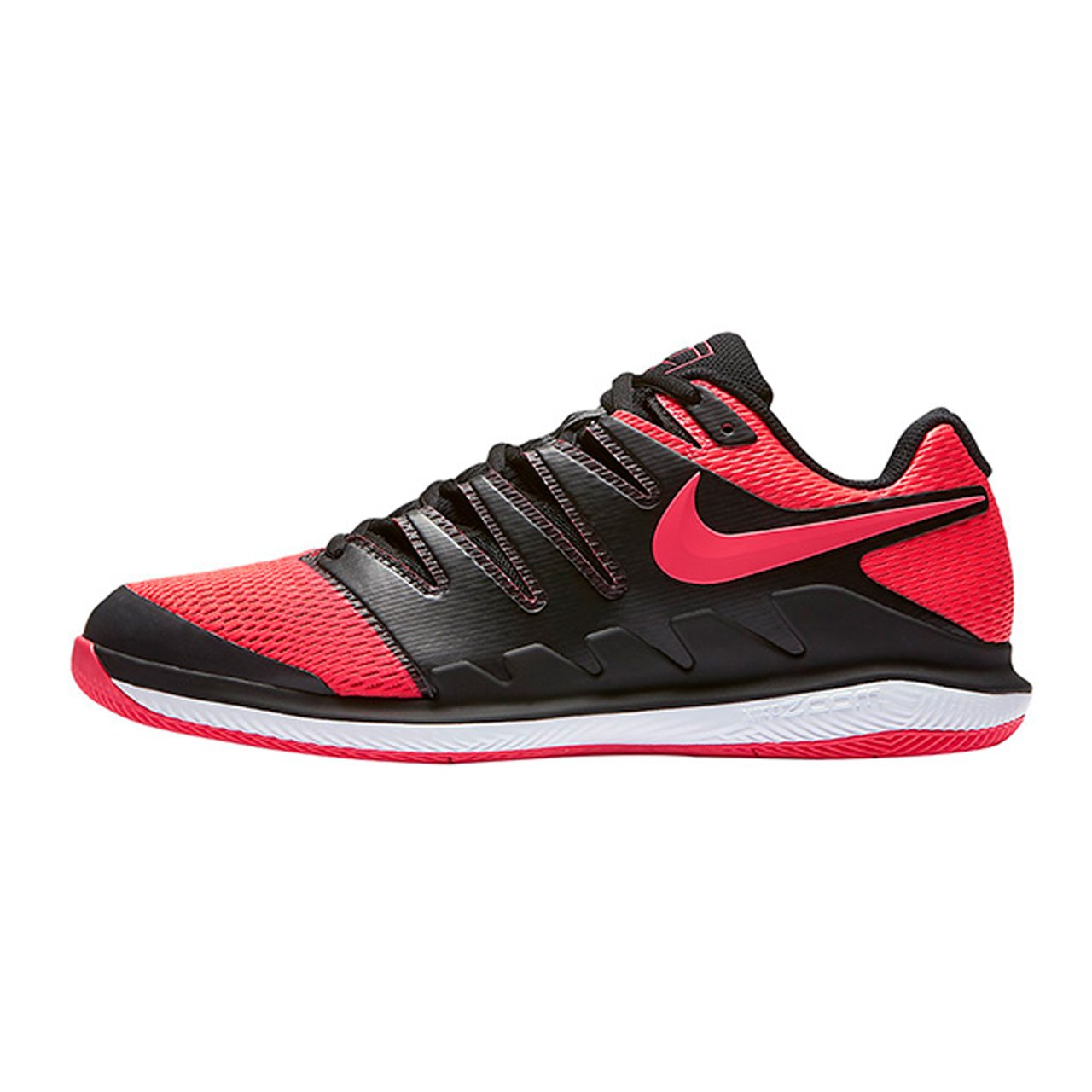 ef333b1257f14 NIKE Men's Zoom Vapor X Tennis Shoes (9 D(M) US, Black/Solar Red/White)