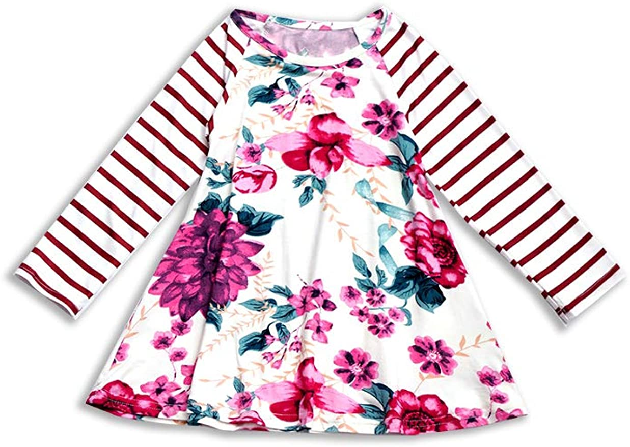 Honeydew cutie Boutique Pink Floral Stripe Angel Sleeve Baby Romper