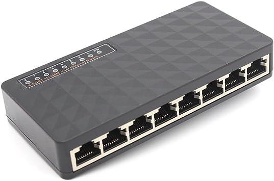 Mini Ethernet Network Desktop Switch 8 Port 10//100Mbps Lan Fast Internet Hub BU