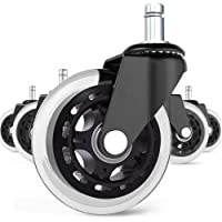 BF BRIGHTFIELD Universal Office Chair Caster Wheels Set of 5 Heavy Duty & Safe for All Floors Including Hardwood 3…