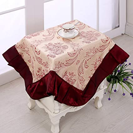 GODXMDD Floral Print Tablecloth Square Lace