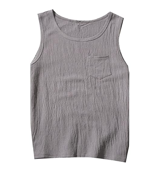 67fd05cc8052b8 YUNY Mens Summer Cool Basic Solid Colored Soft O-Neck Tank Top T-Shirt