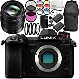 Panasonic Lumix DC-G9 Mirrorless Digital Camera with G X Vario 12-35mm f/2.8 II Lens 10PC Accessory Bundle – Includes 2x Replacement Batteries + MORE - International Version (No Warranty)