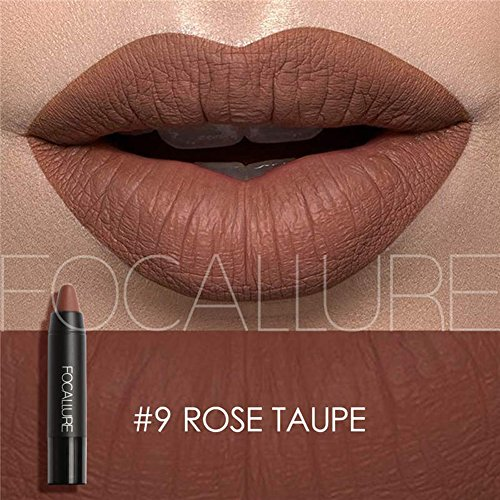 Focallure Matte Lipstick Metallic Sparkly Lipgloss Womens Makeup Stay On Glossier Lip Gloss Long Lasting Colorstay Solid Waterproof Lip Stick