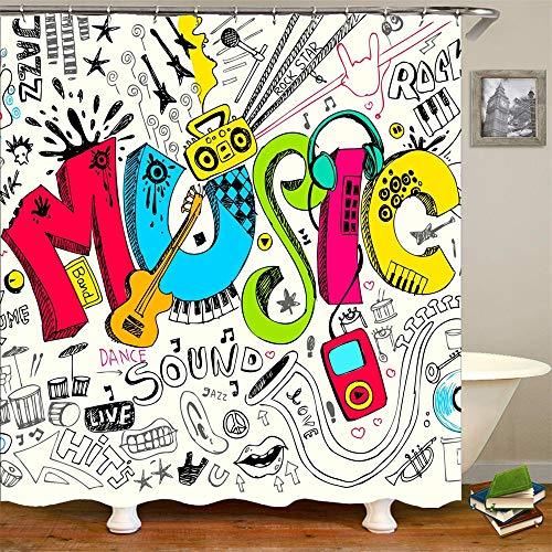 music shower curtain - 2