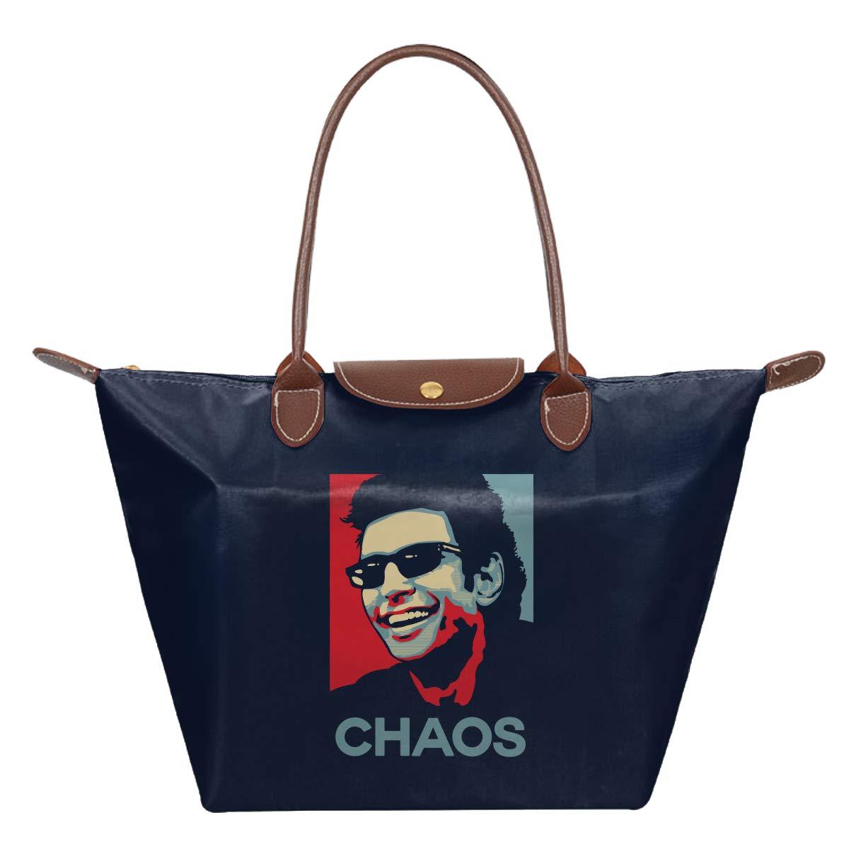 Ian Malcolm Chaos Theory Jurassic Park Hope Waterproof Leather Folded Messenger Nylon Bag Travel Tote Hopping Folding School Handbags