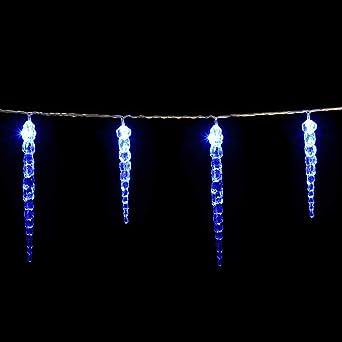 98-L Extra Weihnachts Beleuchtung System 24 LED Eiszapfen Lichterkette 2 x 1 m