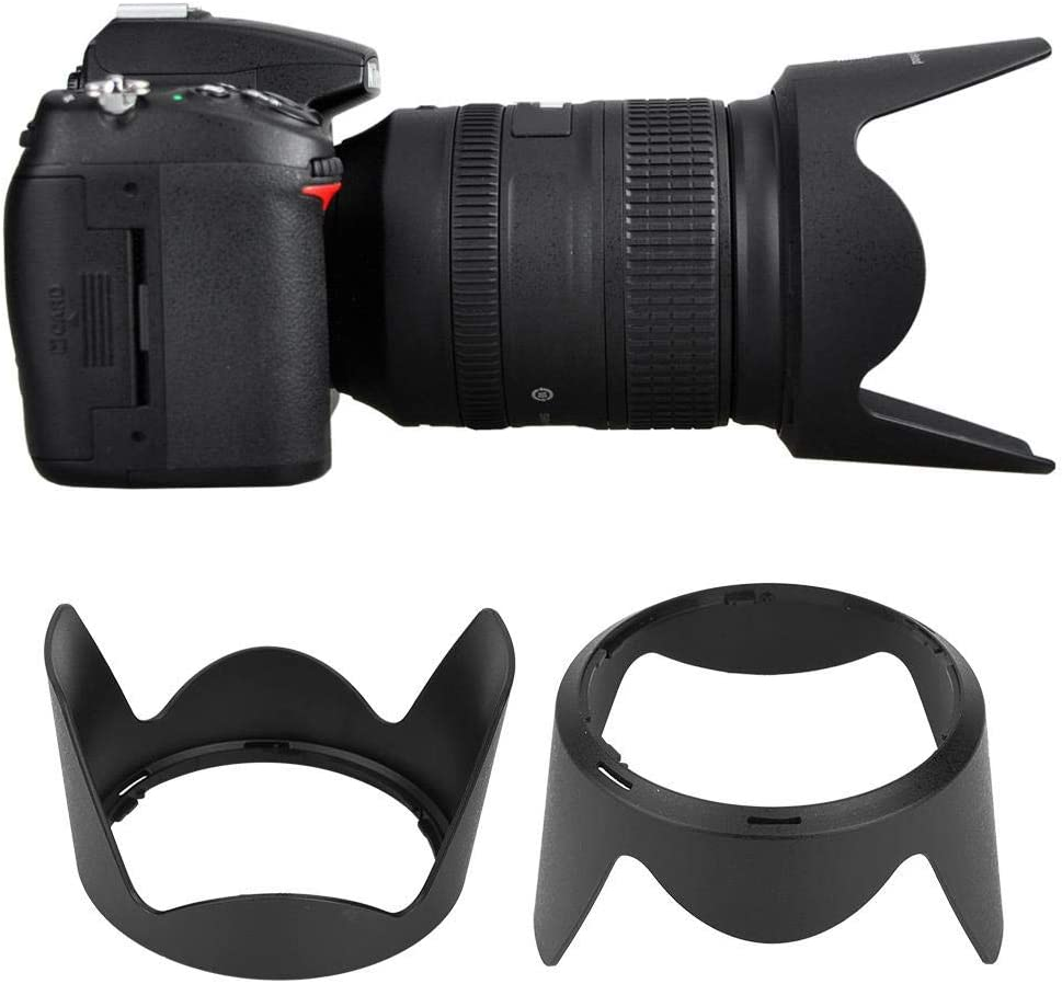 Haoge Bayonet Lens Hood for Nikon Nikkor AF-S 28-300mm f3.5-5.6G ED VR Lens Replaces Nikon HB-50