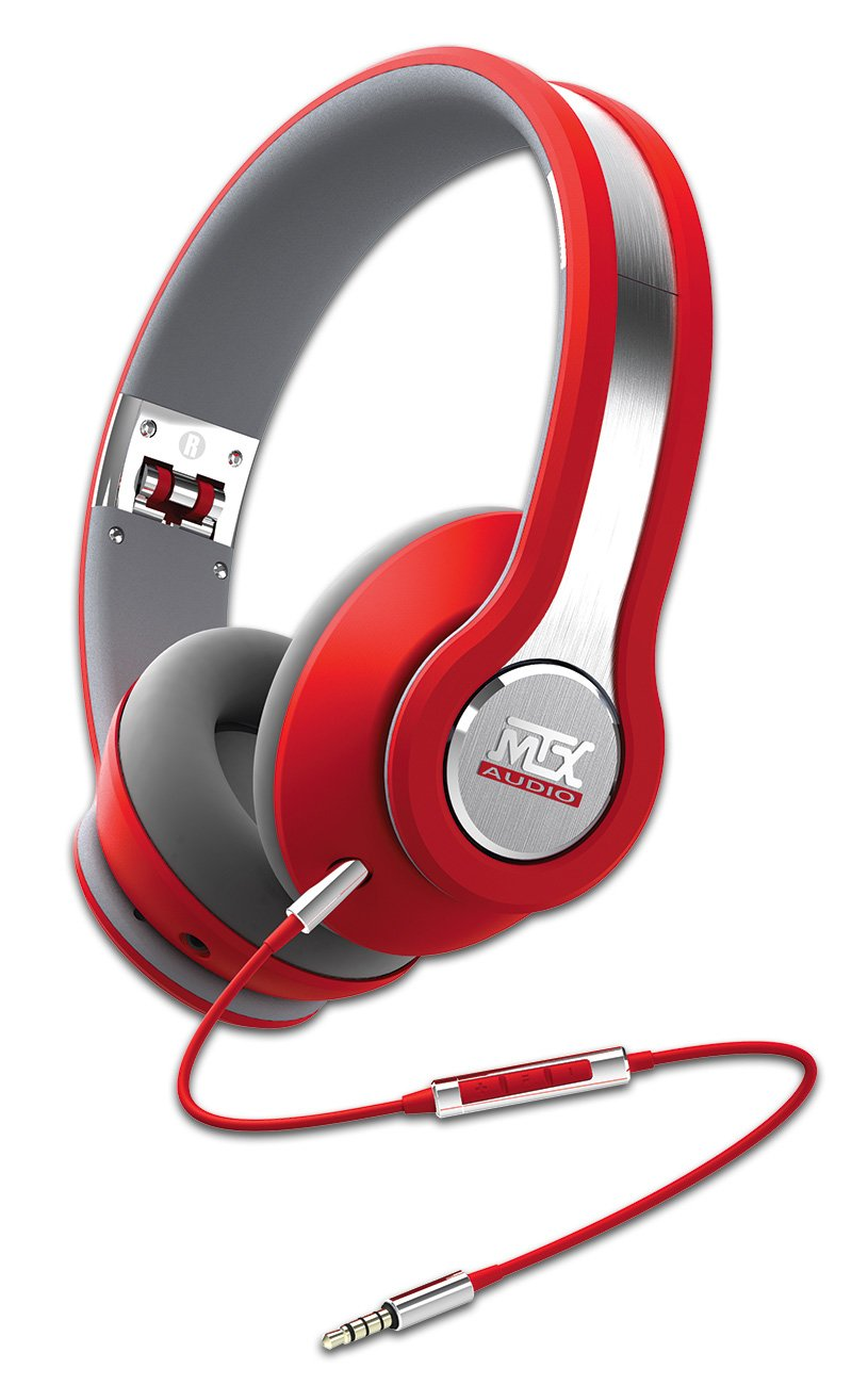 MTX Audio IX1-Red Street Audio On Ear Acoustic Monitors - Red