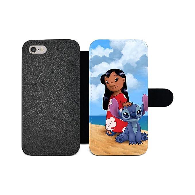 official photos 4f020 4da63 Amazon.com: GSPSTORE iPhone X Wallet case,Lilo&Stitch Ohana Disney ...