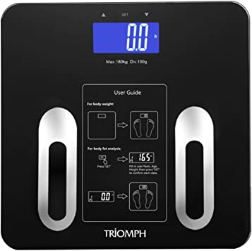 Amazon.com: BMI Báscula de baño digital de Triomph precisión ...