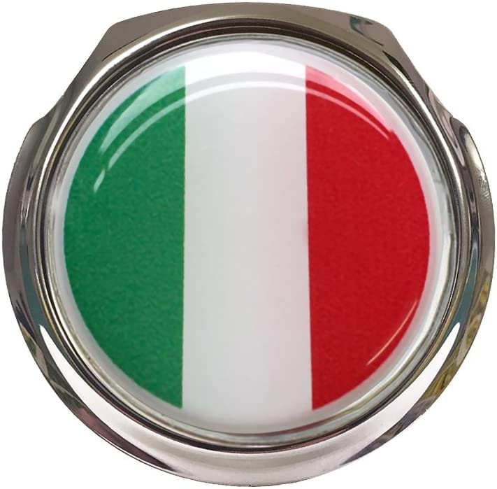 Italy Flag Car Grille Badge With Fixings
