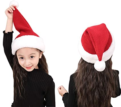 Christmas Hats For Kids.Makfort Christmas Hats Children Thermal Knitted Santa Hats