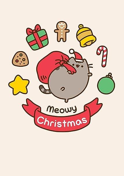 Meowy Christmas.Pusheen The Cat Meowy Christmas Card