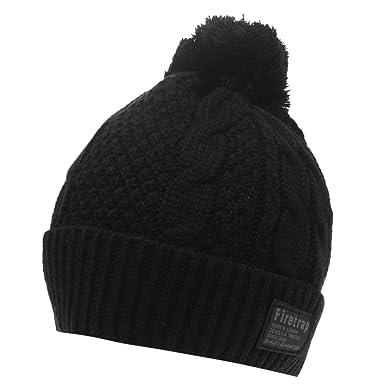 2264be86cca Firetrap Mens Cable Hat Black Mens  Amazon.co.uk  Clothing