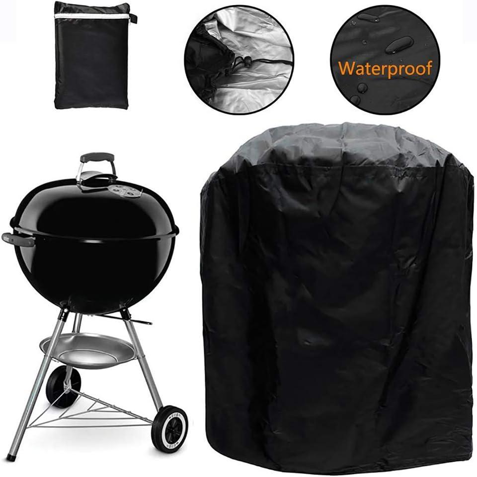 Barbecue Grill Cover, 24x24x28.5 Pouce Imperméable À La Pluie Durable Anti-Poussière Durable Couverture pour Mobilier De Jardin en Plein Air BBQ Grill Cover(#2) #1
